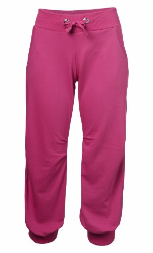 New Ladies Jersey Tie Cropped Joggers Womens