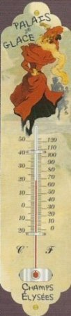Cartexpo TT265 Divers Thermomètre Palais Des Glaces Métal 28 cm