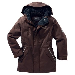 Jack Wolfskin Kinder Jacke GIRLS 5TH AVENUE mocca 140