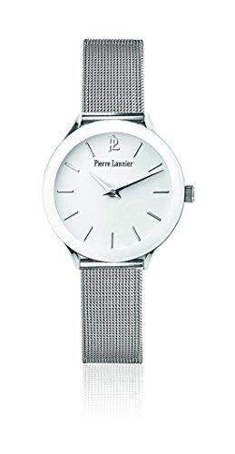 Pierre Lannier - 049C608 - Tendance - Montre Femme - Quartz Analogique - Cadran Blanc - Bracelet Acier Argent