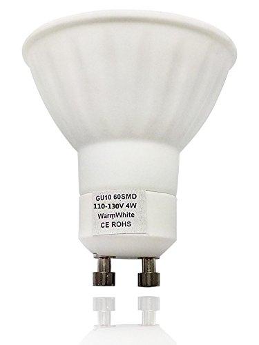 Vstar Gu10 Base Fitting 4W 110-130V 60Smd Led Spot Bulb,Warm White(Package Of 2)