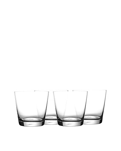 Jay Imports Set of 4 Jive Old Fashioned Glasses, Clear