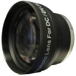Zeikos Professional 2x Telephoto Lens Converter - for 30mm threading w/ 27 & 28mm Rings