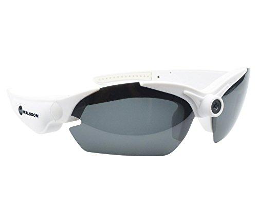 Walsoon 16GB 15mp Video Glasses HD 1080p Sport Action Camcorder Sunglasses Camera DV +5pcs Lens