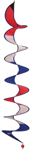 In the Breeze Red, White and Blue Curlie Spinner, 48-Inch