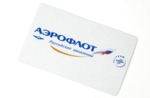 アエロフロート航空ロゴ 硬質ステッカー 防水シール 長方形