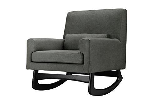 Lowest Prices! Nursery Works Sleepytime Rocker, Charcoal with Dark Legs