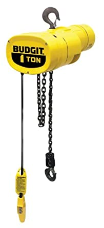 Budgit Hoist Manguard BEHC0116 Electric Chain Hoist, Single Phase, Hook Mount