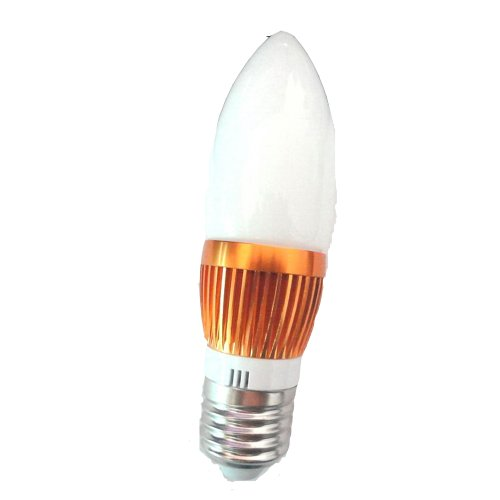 Lenbo High Power E27 9W 600Lm Led Candle Bulb Glass Light Warm White Ac 110V 3X3W Lamp Bulb Lc19 Equivalent To 60W Halogen 120 Degree Beam Angle Golden Case Without Tail