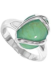 Boma Sterling Silver Green Turquoise Ring