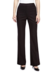 M&S Collection New Wool Blend Slim Bootleg Trousers with Cashmere