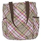 Thirty One Retro Metro Bag Tote Painted Floral Plaid