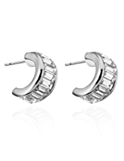 Autograph Baguette Hoop Earrings MADE WITH SWAROVSKI® ELEMENTS