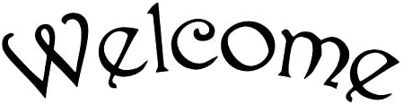 Word Stencil - Welcome - English Vintage Arched - 9 12quot x 2 58quot Word Size