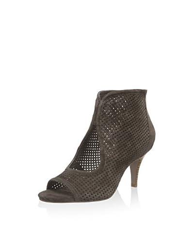 Sofie Schnoor Ankle Boot Suede Sandal Stacked Heel grün