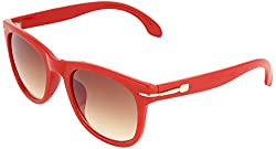 Omnesta Unisex Wayfarer Sunglasses (Red) (PD017)