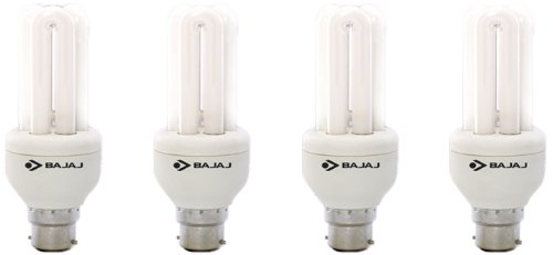 Bajaj Ecolux 2U CDL 11W CFL Bulb (Cool Day Light, Pack of 4) Image