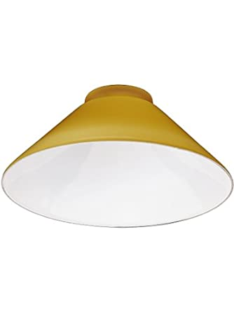 """Amber Cone Shade With 3 1/4"""" Fitter. Replacement Glass"""
