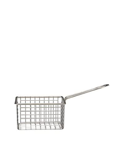 D&V Stainless Steel Rectangle Fry Basket with Handle