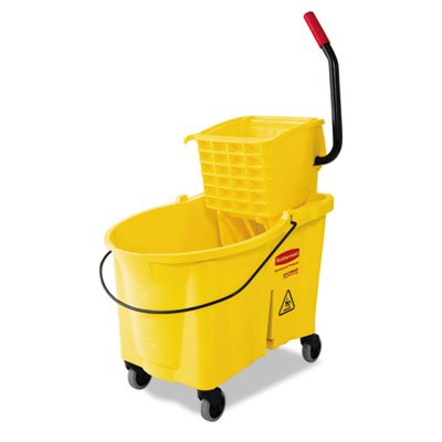Rubbermaid Commercial Products FG618688YEL WaveBrake Mopping System Bucket and Side-Press Wringer Combo, 44 quart, Yellow (Side Press Bucket Wringer compare prices)