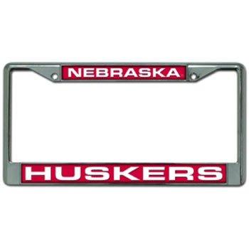 Nebraska Huskers Laser Cut Chrome License Plate Frame - Mioonononoaeraae