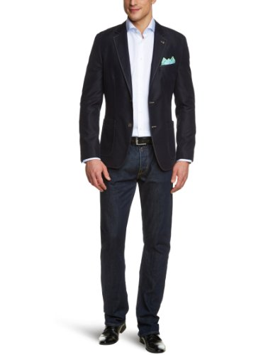 SELECTION Herren Sakko Regular Fit 12.303.54.6354 Gr. 50 Blau 5920