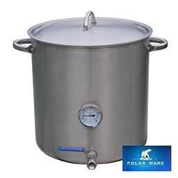 30qt Polarware Brew Kettle w/ Valve & Thermometer