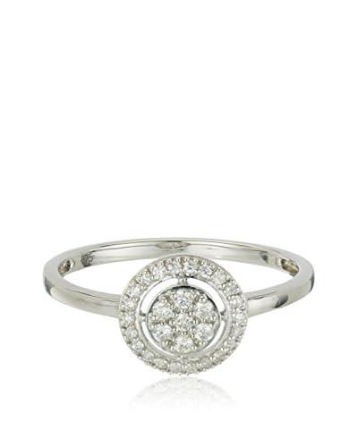 Bentelli Ring 9K Gold 0.16Ct Diamonds weißgold