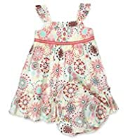 Pure Cotton Floral Print Dress with Knickers