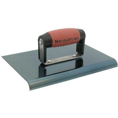 MARSHALLTOWN The Premier Line 166BD 9-Inch x 6-Inch Blue Steel Edger-1/2-Inch Radius, 5/8-Inch Lip DuraSoft Handle