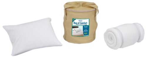 Sleep Innovations Bag of Comfort Twin XL Memory Foam Topper and Pillow Set