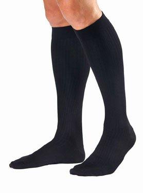 Men'S Dress 8-15 Mmhg Closed Toe Knee High Support Sock Size: Medium, Color: Black