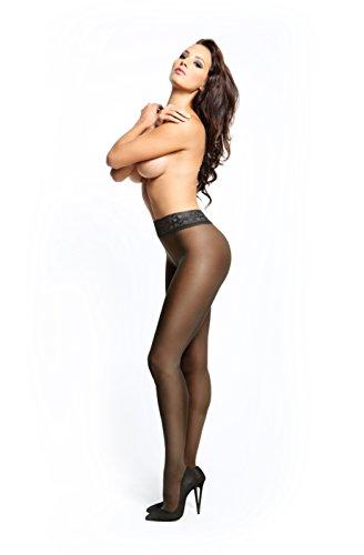 fa30212133191 Miss O Lace Top Open Crotch Pantyhose -Black-Small / Medium - Import ...