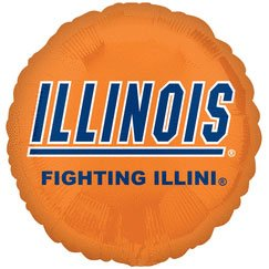 "18"" University of Illinois Foil Balloon - 1"