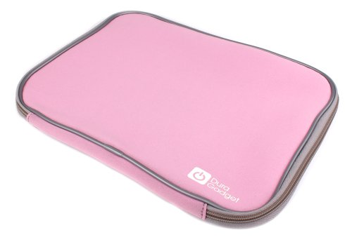 """Duragadget Pink """"Travel"""" Shock Resistant Neoprene Carry Case With Dual Zips For Alba 7 Inch Portable Dvd Player - Pink & Cce71Dvdduo 7"""" Lcd 2 Movies At Once! Twin Dual Screen Portable In Car Dvd Players"""