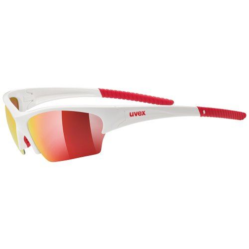 Uvex, Occhiali sport Sunsation, Multicolore (white red), Taglia unica