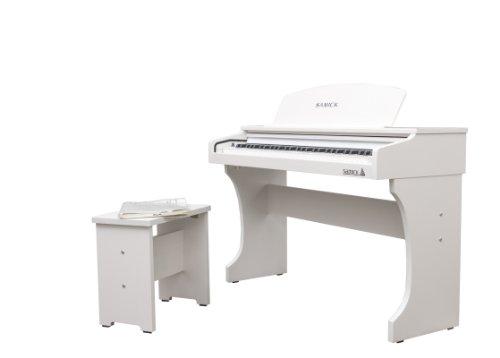 Samick Md61 Sw 61-Key Mini Digital Piano, Snow White