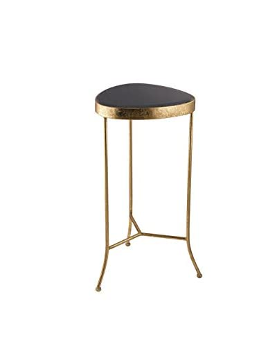 Artistic Lighting Onyx Cocktail Table, Gold/Black