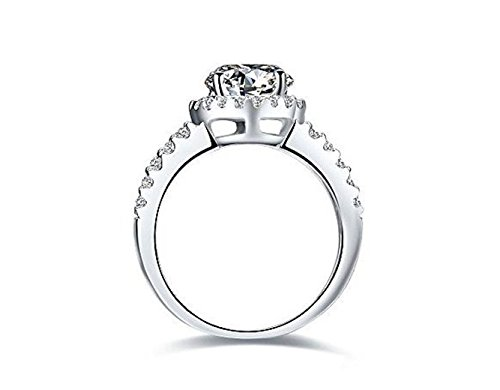 2.00 Carat Vvs1 Nscd Diamond Engagement Ring in 18k Gold Over Silver 2.00 Carat Vvs1 Nscd