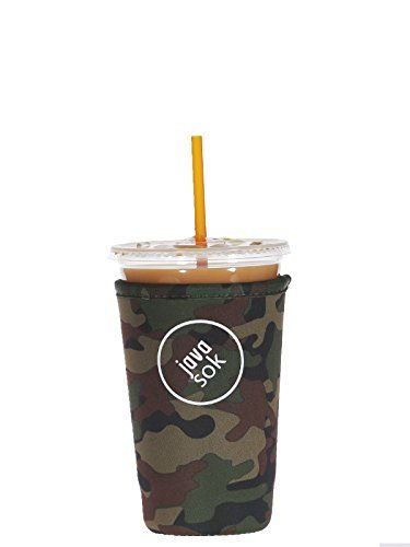 iced-java-sok-green-camo-medium-perfect-fit-neoprene-cup-sleeve-for-dunkin-donuts-and-starbucks-and-