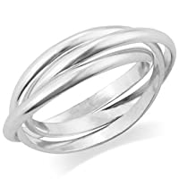 MIMI 925 Sterling Silver 3 Band Rolling Ring by Mimi Silver