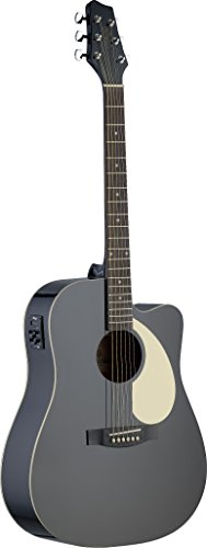 Stagg Sa30Dce-Bk Electro-Acoustic Dreadnought Guitar - Matte Black