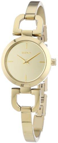 DKNY  NY8870 - Reloj de cuarzo para hombre, con correa de acero inoxidable chapado, color dorado