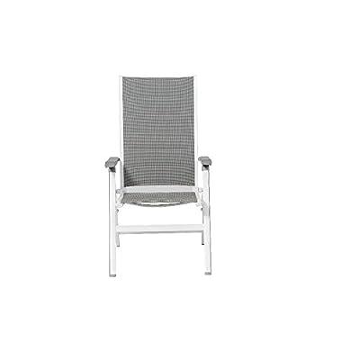MWH 255285 Futosa Klapp-Sessel, Alu-Gestell, Textilgewebe, artic / grau von MWH bei Gartenmöbel von Du und Dein Garten