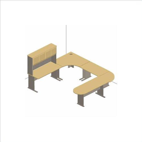 Bush Furniture Advantage Series U Shaped Desk With Hutch