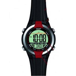EGG DDP 4020901 - Reloj digital de cuarzo para niño con correa de caucho, color negro