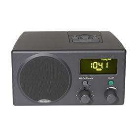 Boston Acoustics Receptor Clock Radio (Charcoal)