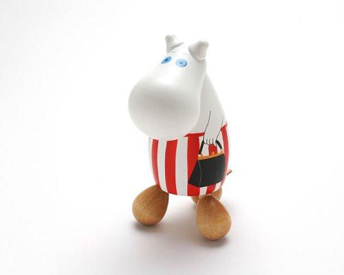 Moomin ムーミン 木製手描き人形(つぼ押し)/ママ