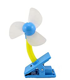 Noiseless Clip-On Mini Fan, Blue