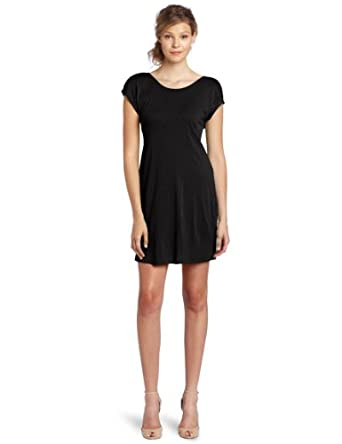 LAmade Women's Draped Back Dress, Black, Small